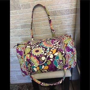 "Vera Bradley ""Plum Crazy"" Travel Bag 3piece bundle"